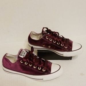Converse All Star velvet women's shoes size 8